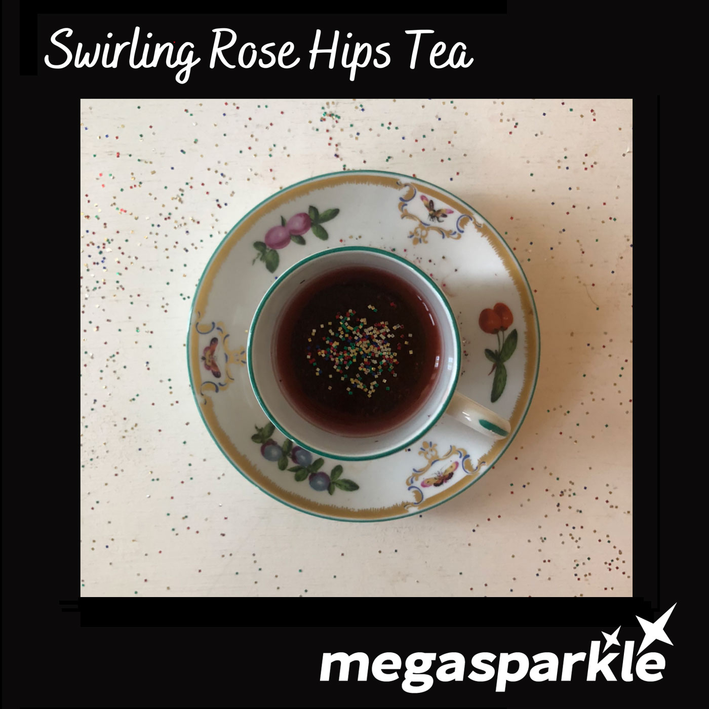 Swirling Rose Hips Tea